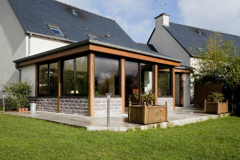 Extension v randa construction services for Extension maison veranda prix