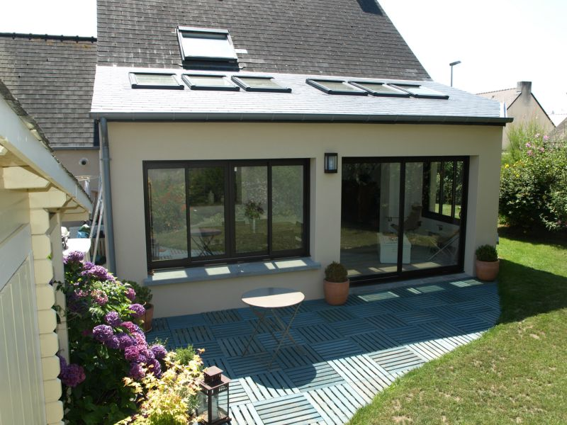 Extension maison ma onnerie construction services for Extension parpaing