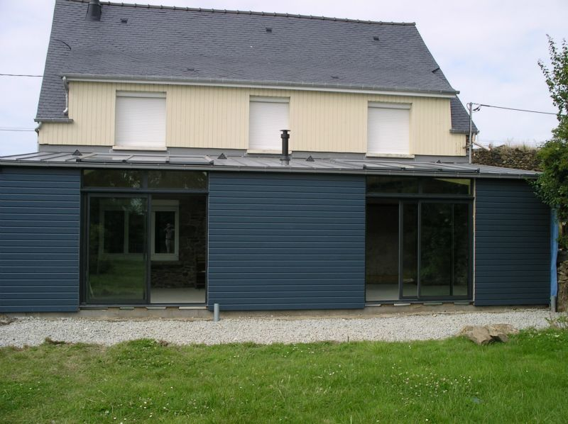 Extension maison bois construction services Extension verriere