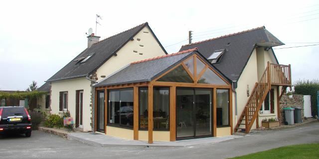 Extension v randa construction services for Extension bois veranda
